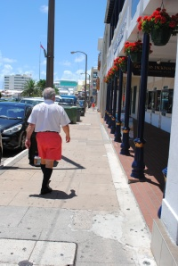Typical business wear in Bermuda